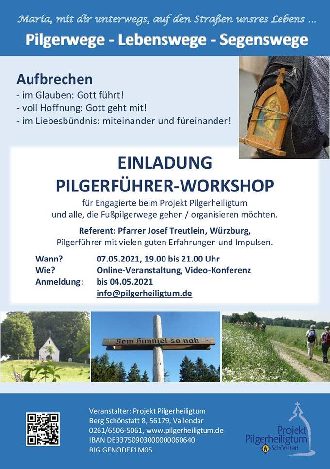Flyer zum Pilgerführer Workshop (Foto: Projekt Pilgerheiligtum)