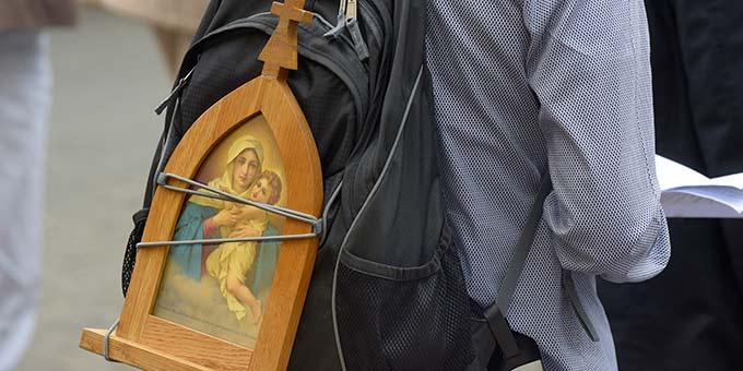 Mit Maria unterwegs zu Stützpunkten des Glaubens und der Hoffnung (Foto: Kröper)