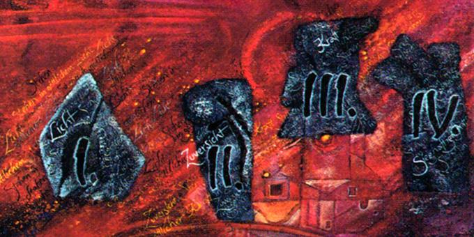 Die Meilensteine der Schönstatt-Geschichte (Gemälde: Hildegard C. Hug)