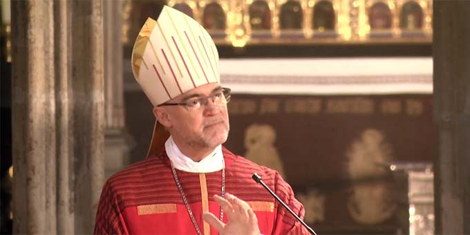 Rolf Lohmann, Weihbischof von Münster, bei der Predigt (Foto: Videoausschnitt)