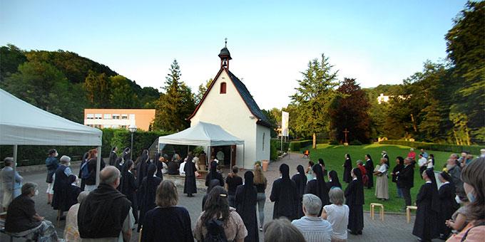 Bündnisfeier am Abend des 18. Juli 2021 am Urheiligtum in Schönstatt, Vallendar (Foto: Brehm)