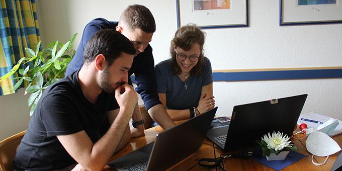 Helferwoche zur NdH 2021: PR-Team bei der Arbeit (Foto: Gärtner)