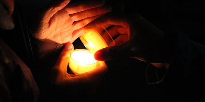 Helferwoche zur NdH 2021: Abendabschluss beim Urheiligtum (Foto: Gärtner)