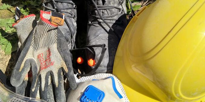 Helferausrüstung (Foto: M. Lindner)