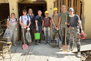 Eine Teilgruppe nach Stemmarbeiten (Foto: L. Stipulkowski)
