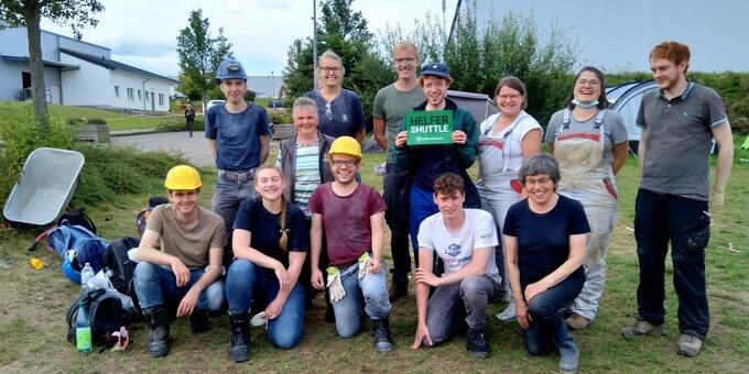 Die Helfertruppe am 24.08.2021 (Foto: M. Lindner)
