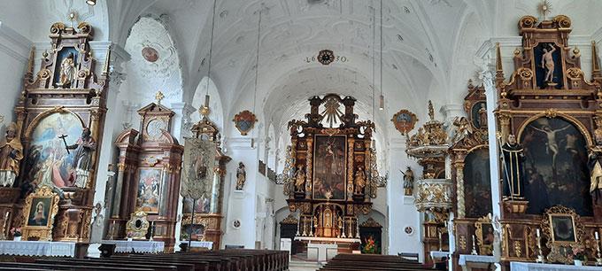 Klosterkirche Beuerberg innen (Foto: Kiess)