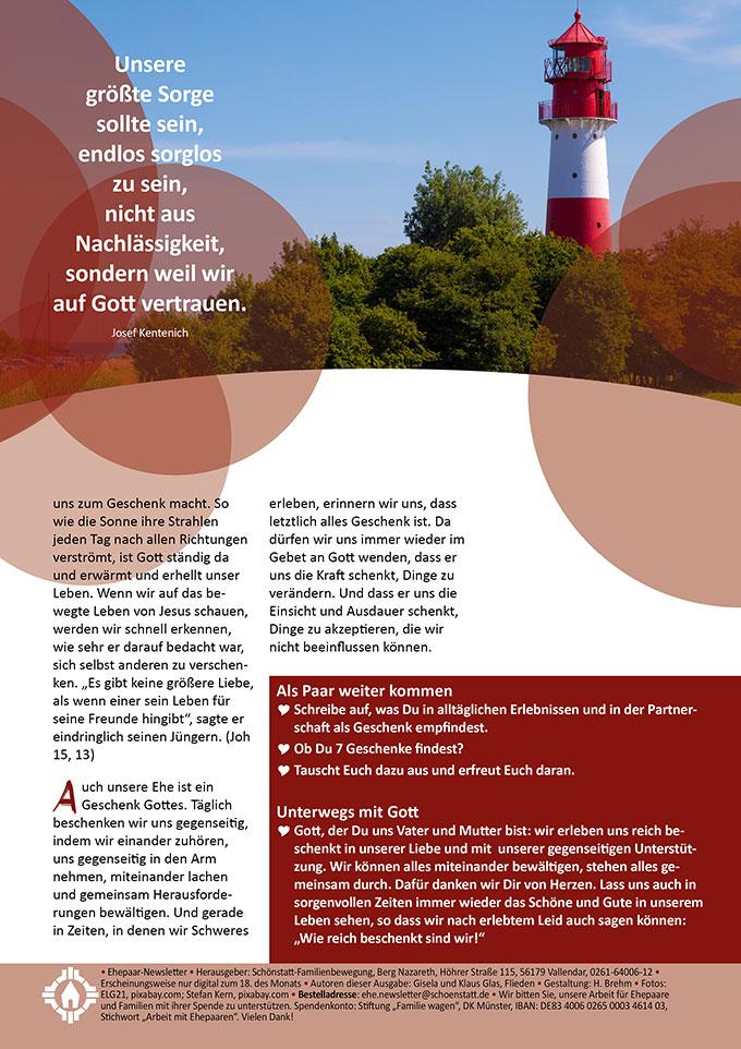 "Ehepaar-Newsletter 08/2021 ""Wir zwei - Immer wieder neu""  (Foto: Stefan Kern, pixabay.com)"