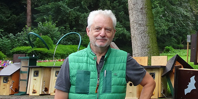 Carl Jung aus Koblenz-Lay im Einsatz für das Artenschutzprojekt im Schönstatt-Zentrum Trier (Foto: A.M.Brück)