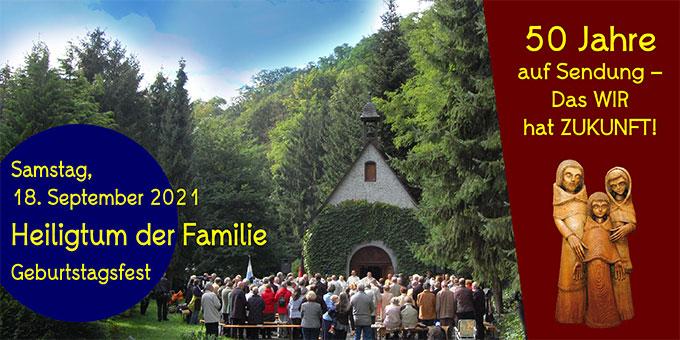 """Das """"Heiligtum der Familie"""" ist im September vor 50 Jahren eingeweiht worden und seither """"auf Sendung"""" (Foto: Brehm)"""