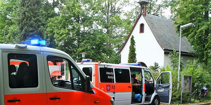 Beim Schönstatt-Heiligtum in Maria Rast wurde für einen Tag ein Evakuierungszentrum während einer Flutbedingten Brückensprengung eingerichtet (Foto: Manfred Görgen)
