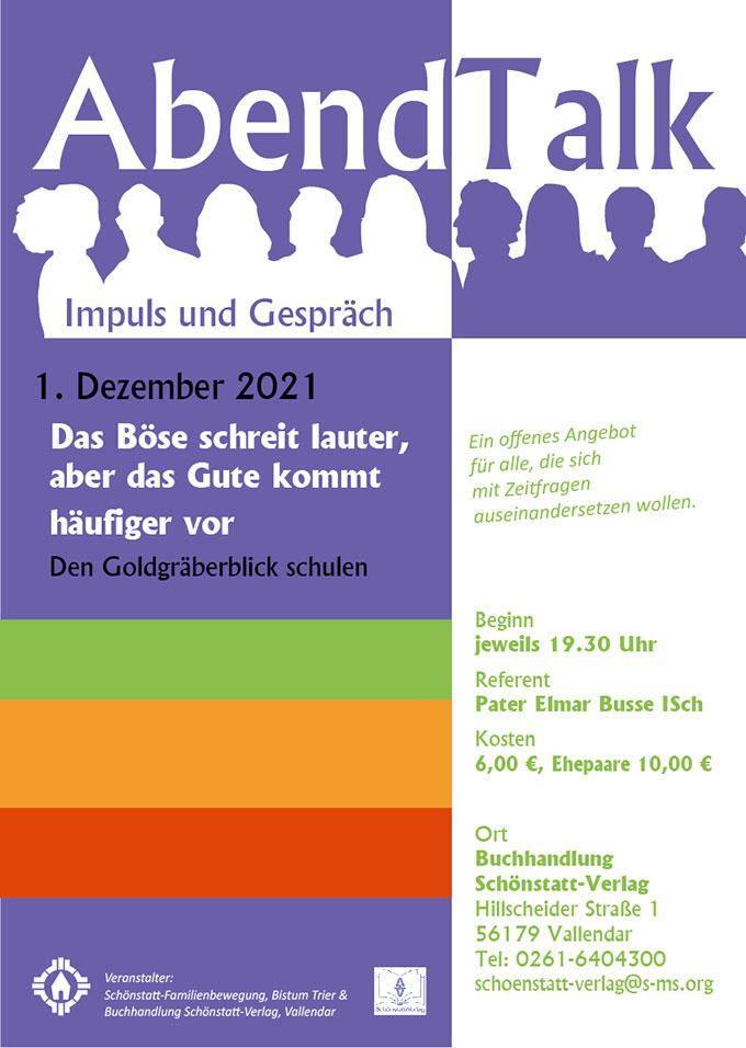 Plakat zum Abendtalk im Dezember 2021 (Grafik: Brehm)