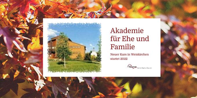 Für einen neuen Ausbildungskurs zum Ehe- und Familientrainer können sich interessierte Ehepaare jetzt anmelden (Foto: Akademie für Ehe und Familie Mainz)