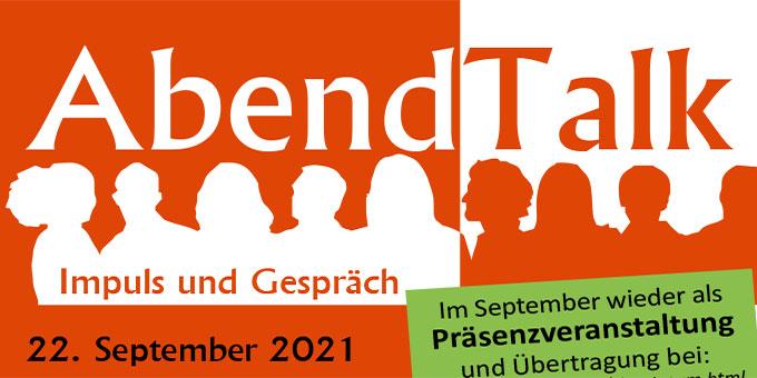 Abendtalk im September 2021 (Grafik: Brehm)
