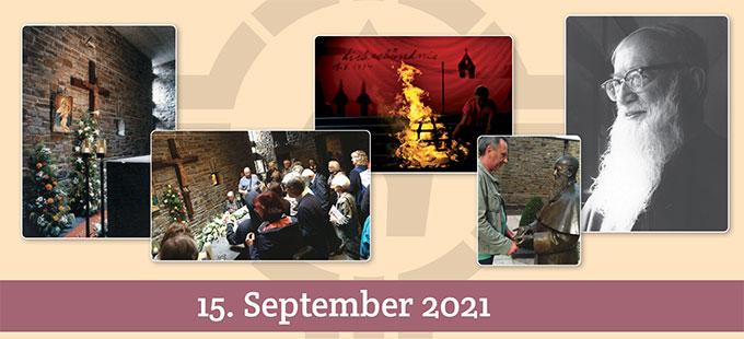 Gedenken am Todestag von Pater Josef Kentenich am 15. September 2021 (Grafik: Sekretariat PJK)