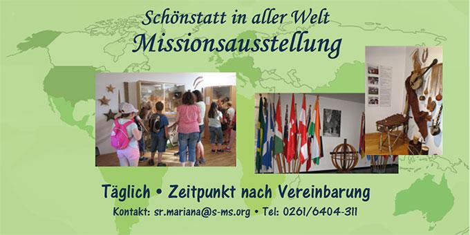 Missionsausstellung auf Berg Schönstatt, Vallendar (Foto: s-ms.org)