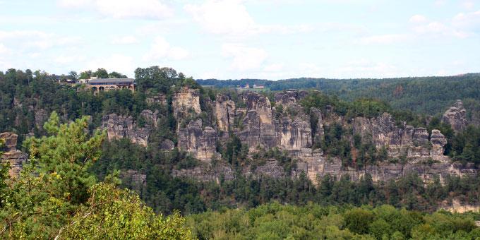 Die Sächsische Schweiz bildete eine tolle Kulisse für eine interessante Urlaubswoche (Foto: Miller)