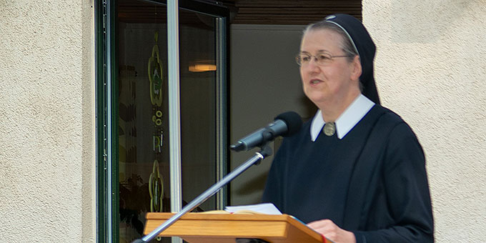 Grußwort: Provinzoberin Schwester Marisa Spickers (Foto: Gremler)