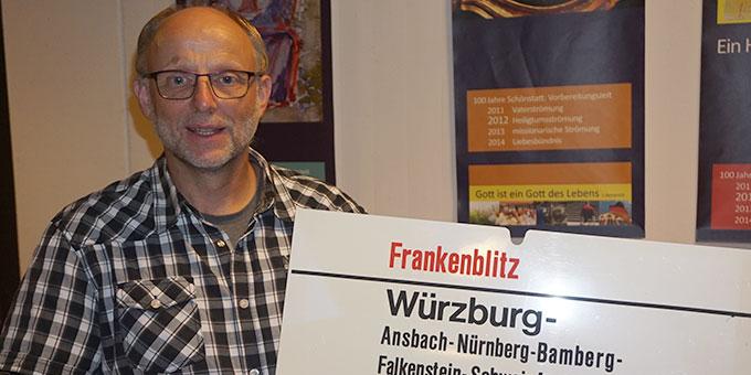 Rhöner mit Frankenschild (Foto: Wolfgang Fella)