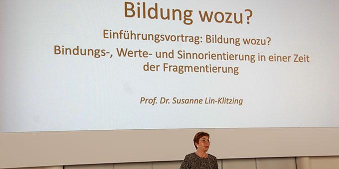 """Kongress """"Bildung wozu?"""" Einführungsvortrag  (Foto: Brehm)"""