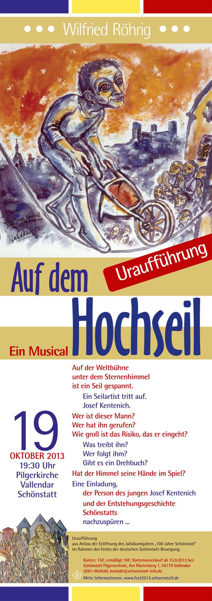 Musical Einladungs-Plakat (Gestaltung: Brehm)