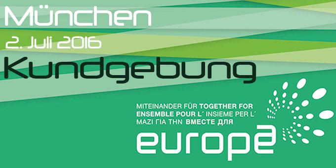 Kundgebung Miteinander für Europa (Foto: MfE)